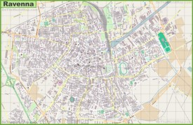 Large detailed map of Ravenna