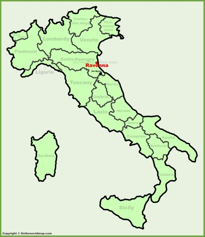 Ravenna Location Map