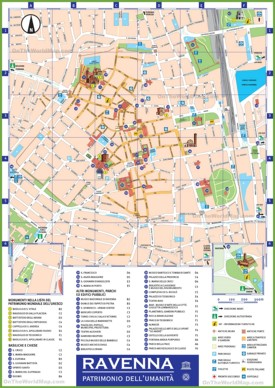 Ravenna tourist attractions map