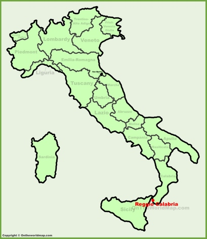 Reggio Calabria Location Map