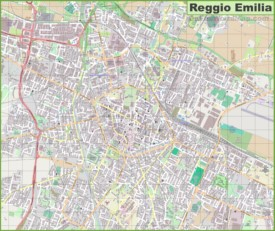 Large detailed map of Reggio Emilia