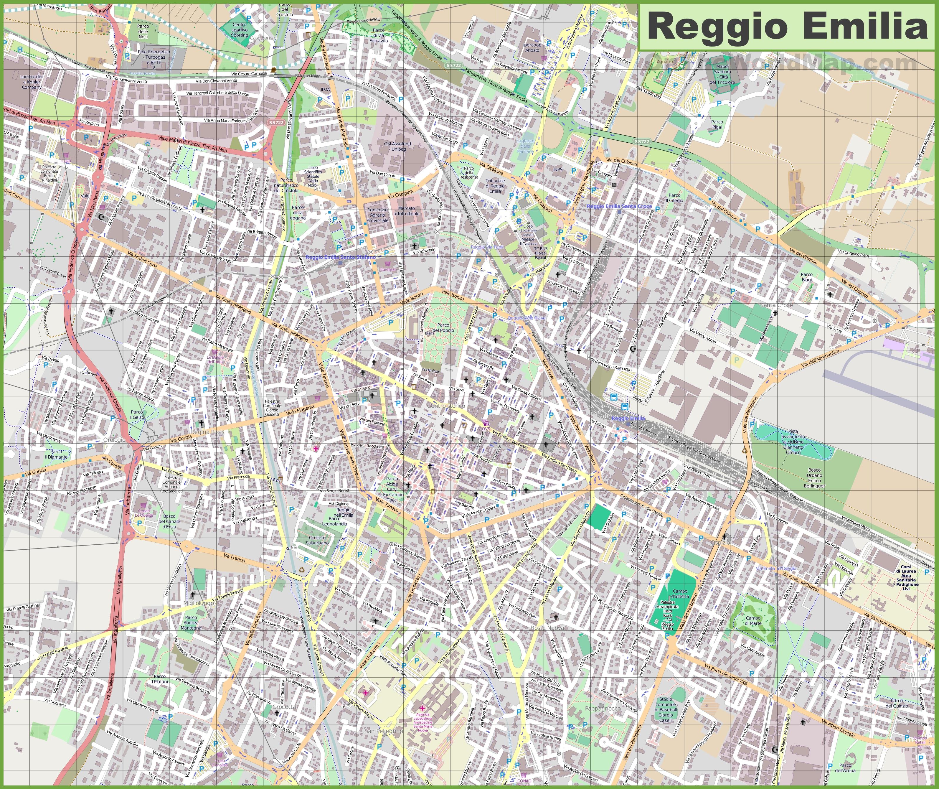 Reggio Emilia Maps Italy Maps of Reggio Emilia