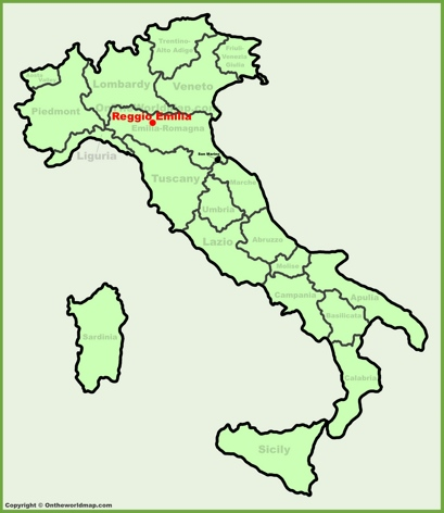 Reggio Emilia Location Map