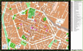 Reggio Emilia sightseeing map