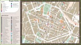 Reggio Emilia tourist map