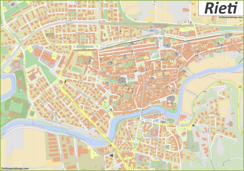 Map of Rieti