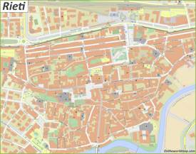 Rieti Old Town Map