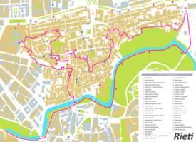 Rieti Tourist Map