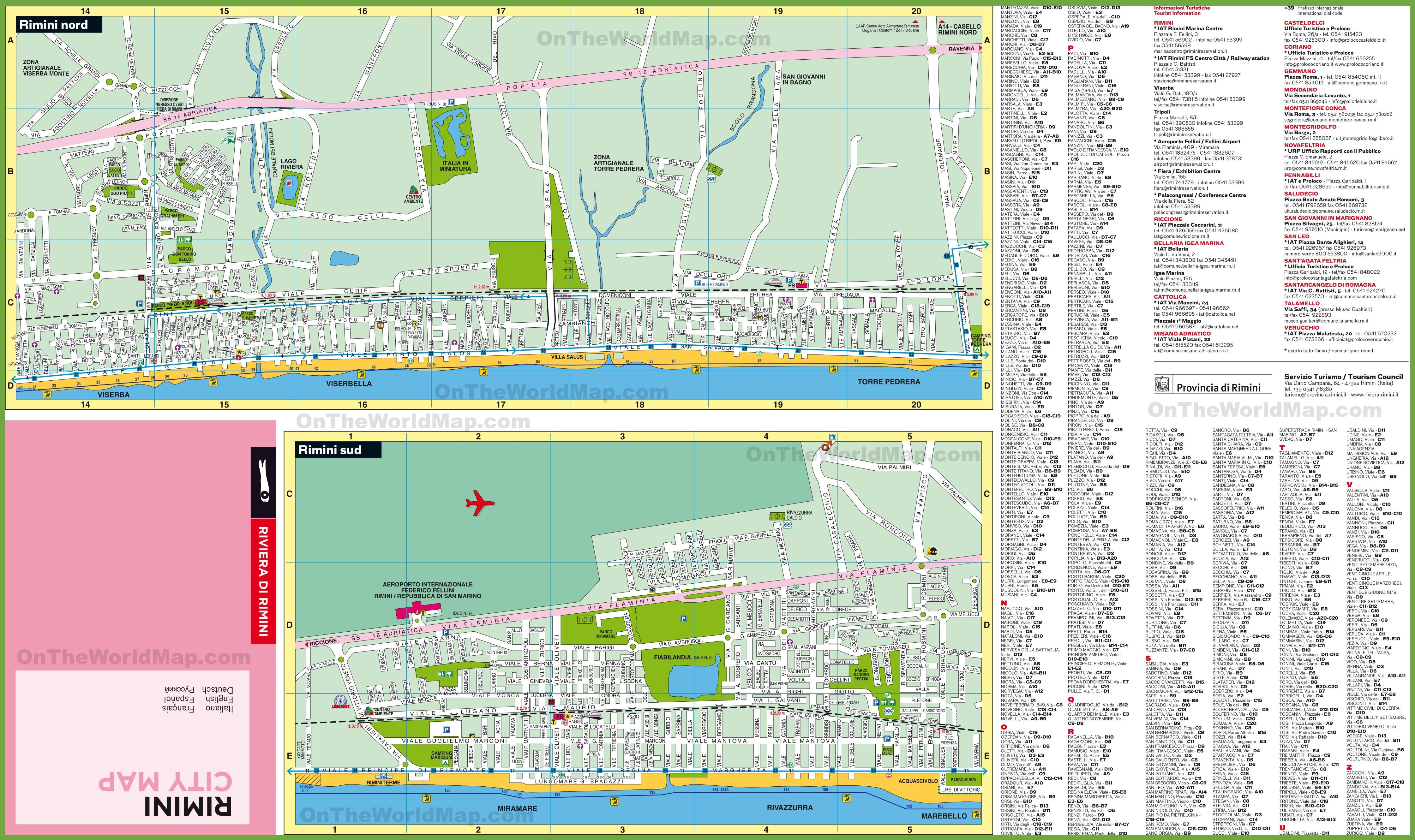 Rimini Maps Italy Maps of Rimini