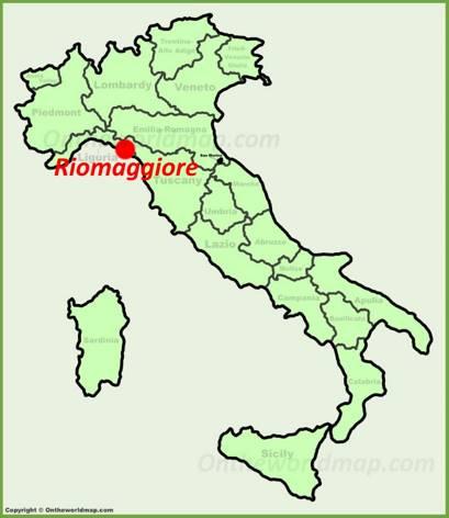 Riomaggiore location on the Italy map