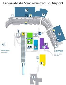 Fiumicino Airport Overview Map