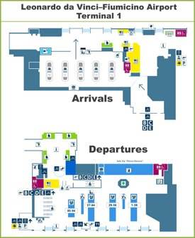 Fiumicino Airport Terminal 1 Map