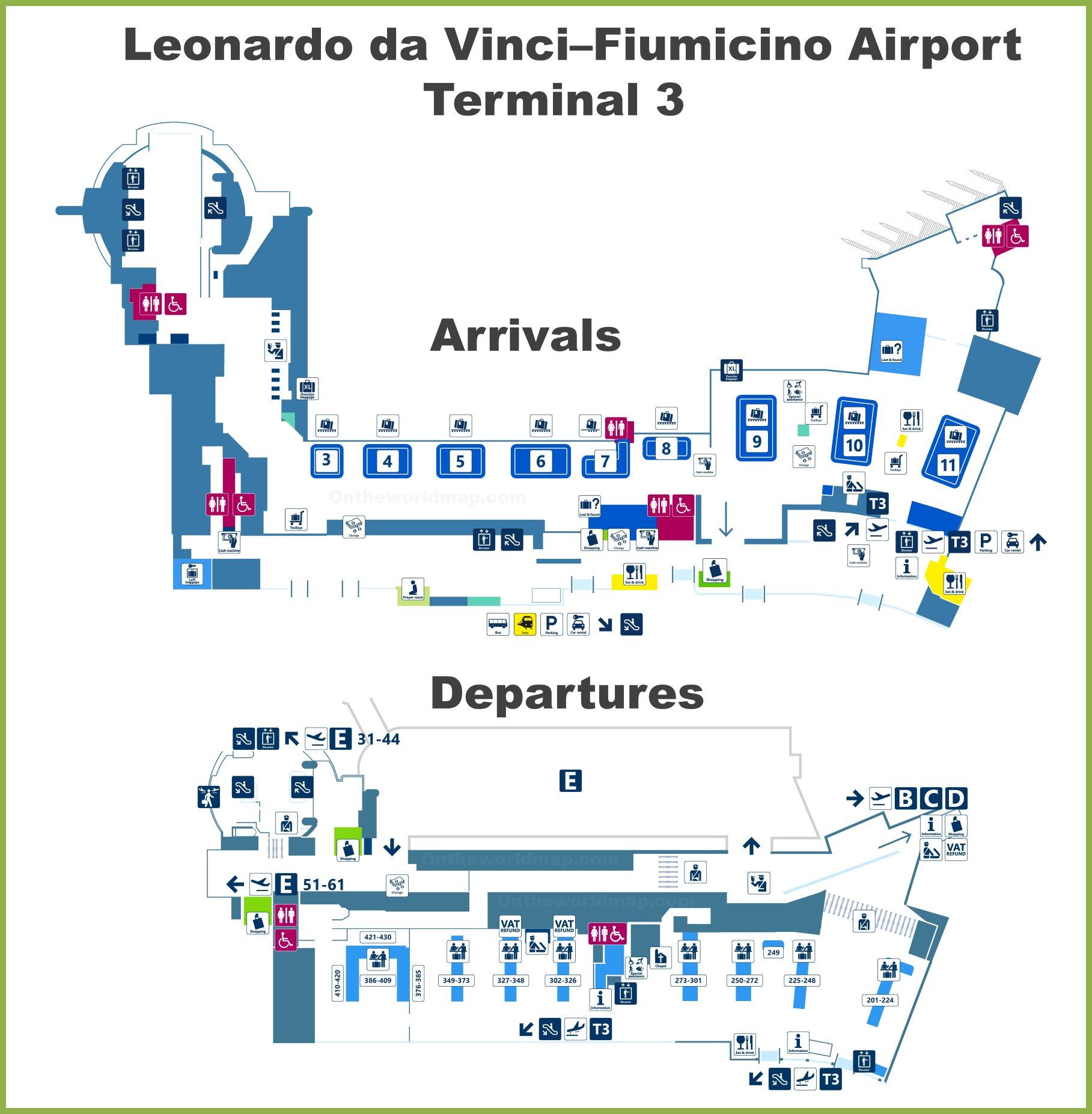 las vegas terminal 3 map Fiumicino Airport Terminal 3 Map las vegas terminal 3 map