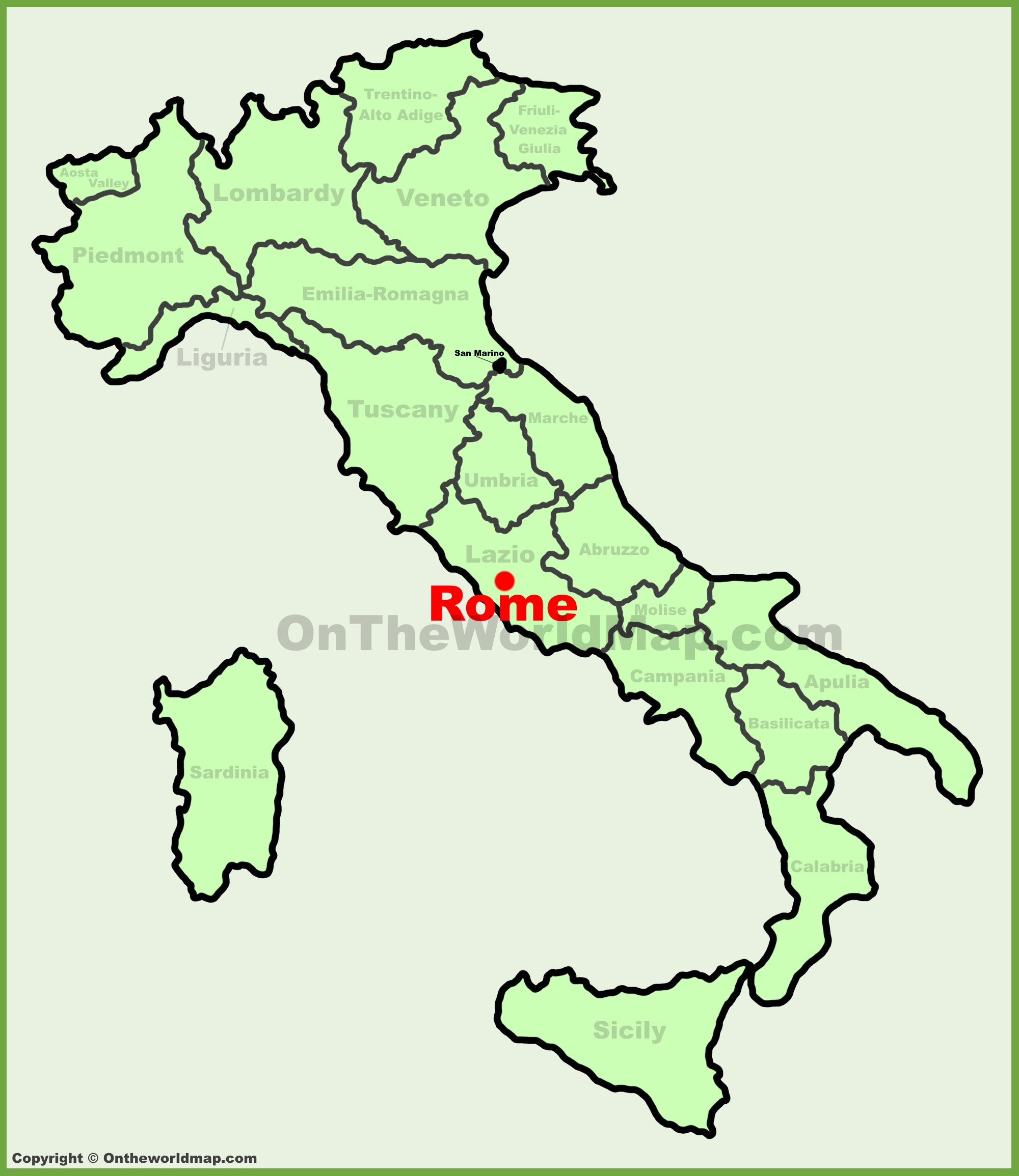 Where Is Rome On The Map Rome location on the Italy map Where Is Rome On The Map