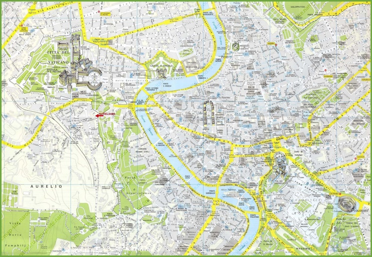Rome tourist attractions map