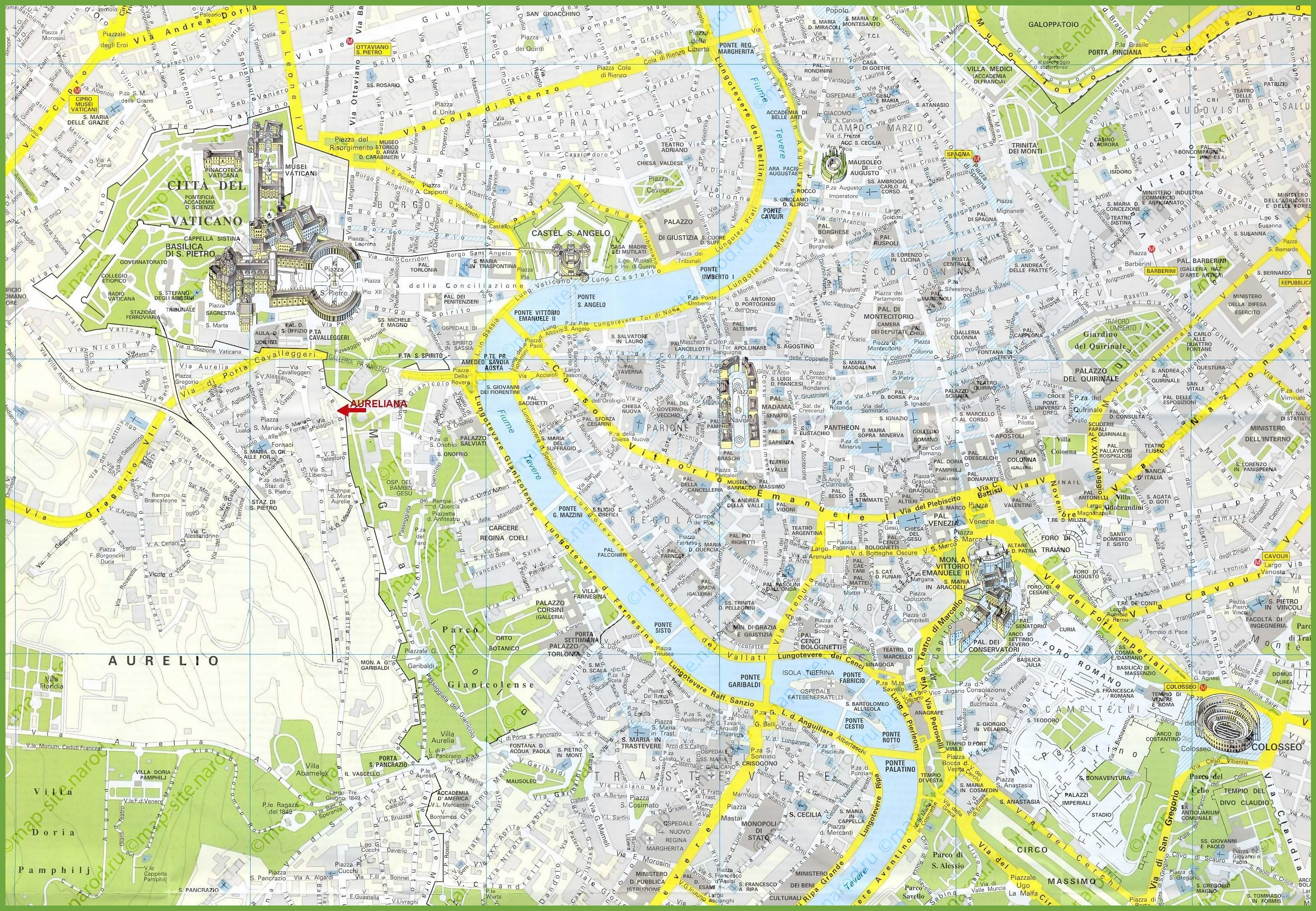 Rome tourist attractions map – Map Of Rome Tourist Attractions