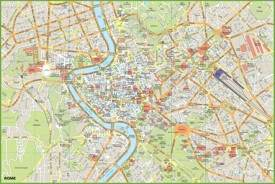 Rome Maps Italy Maps Of Rome Roma - Rome map in english with attractions
