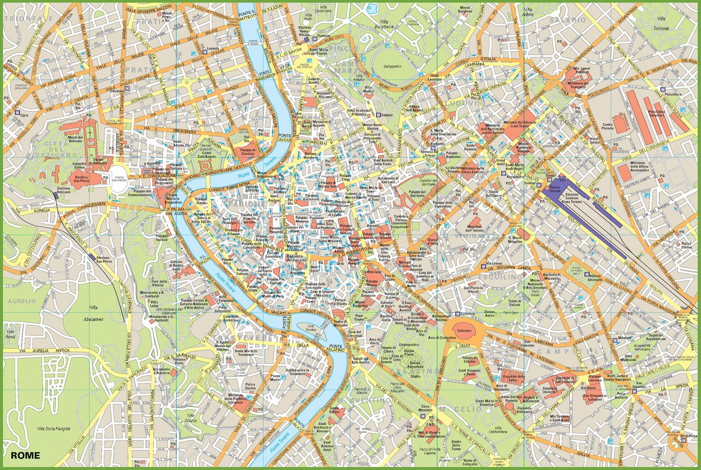 rome tourist map