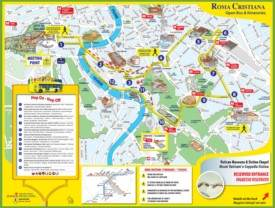 Tourist map of Rome city centre