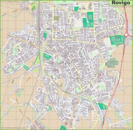 Large detailed map of Rovigo