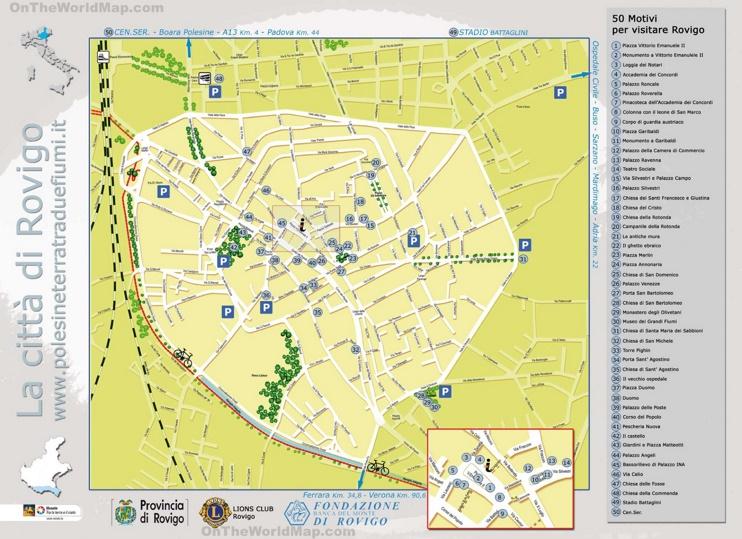 Rovigo tourist map
