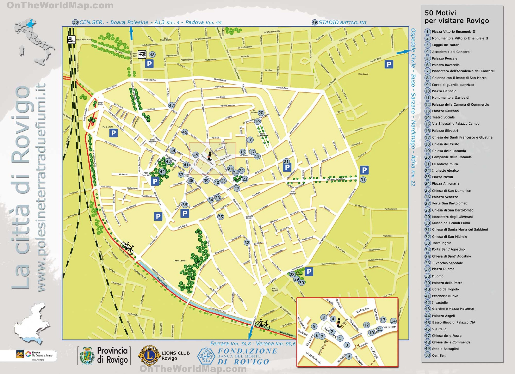 Rovigo tourist map