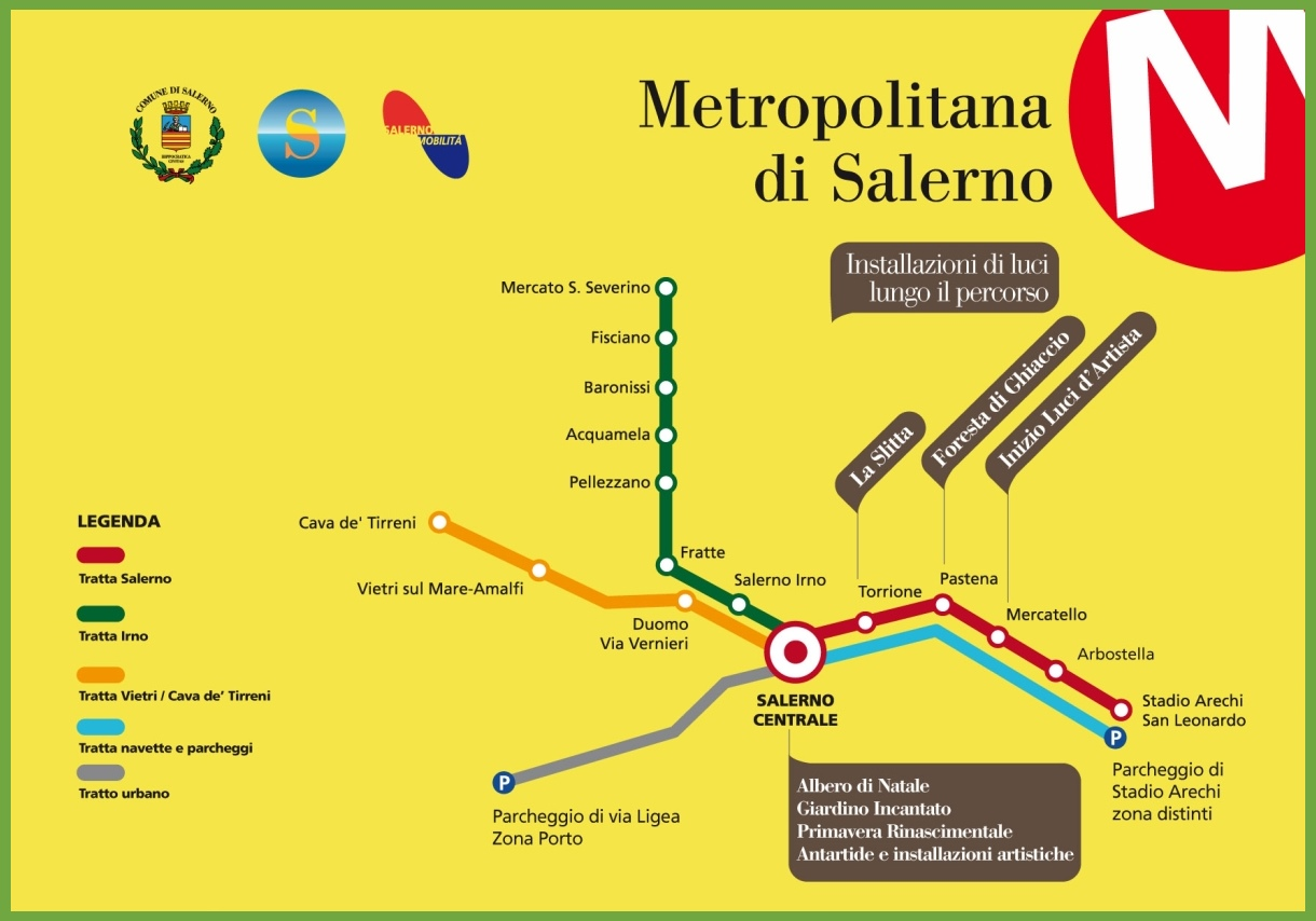 Italy Metro Map.Salerno Metro Map