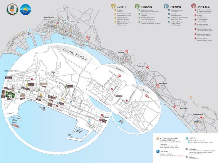 Salerno tourist map