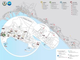 Salerno tourist map