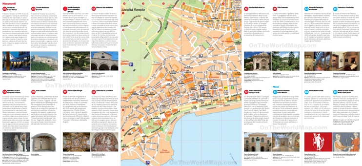 Tourist map of Salerno city centre