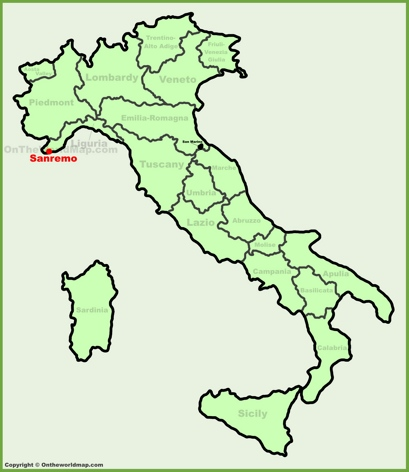 Sanremo Location Map