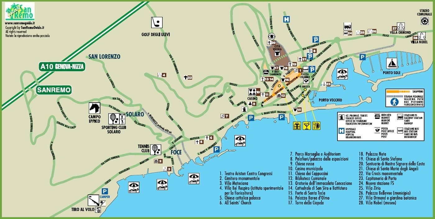 Sanremo Maps Italy Maps of Sanremo San Remo