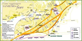 Sanremo tourist map