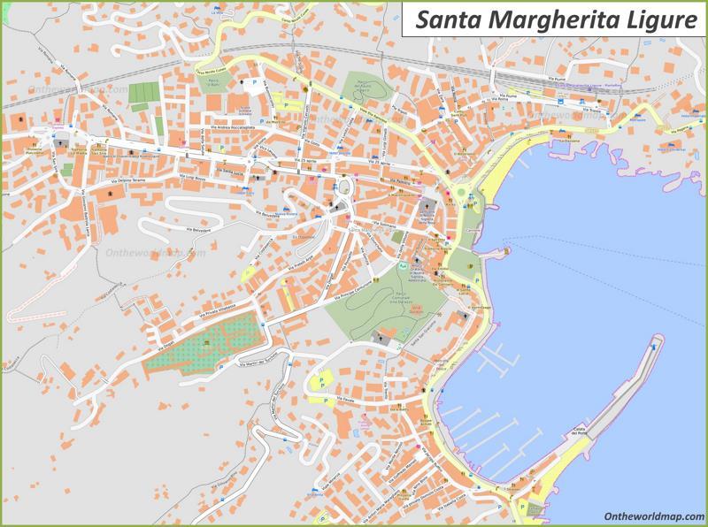 Map of Santa Margherita Ligure