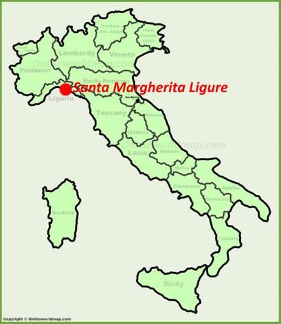 Santa Margherita Ligure Location Map