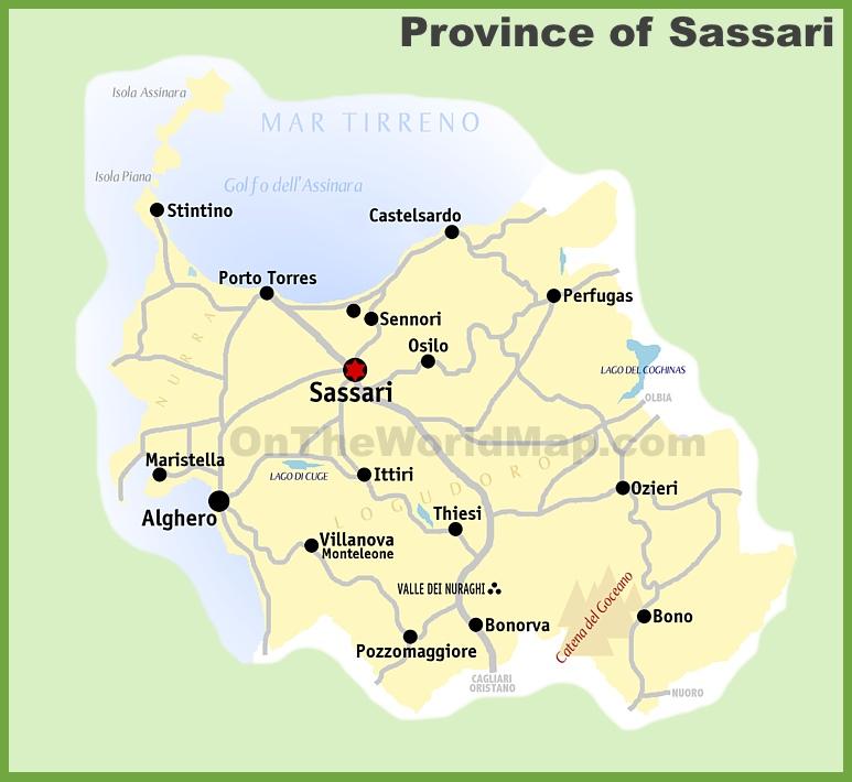 Sassari Maps Italy Maps of Sassari