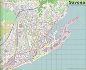 Large detailed map of Savona