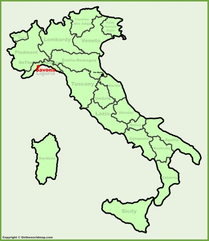 Savona Location Map