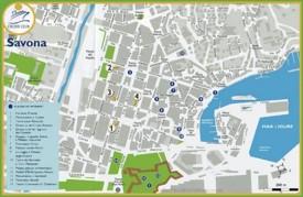 Savona tourist map