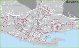 Savona transport map