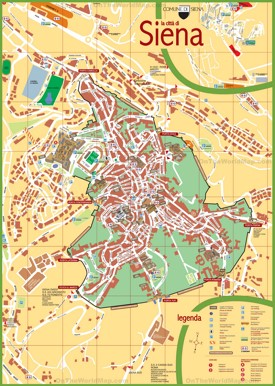 Siena tourist map