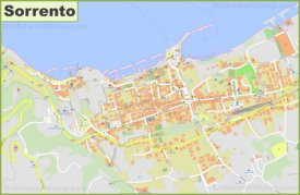 Detailed map of Sorrento
