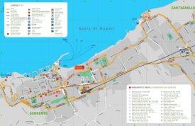 Sorrento tourist map