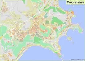 Detailed Map of Taormina