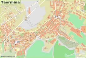Taormina Old Town Map