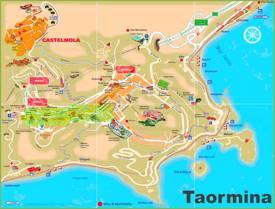 Taormina Tourist Map