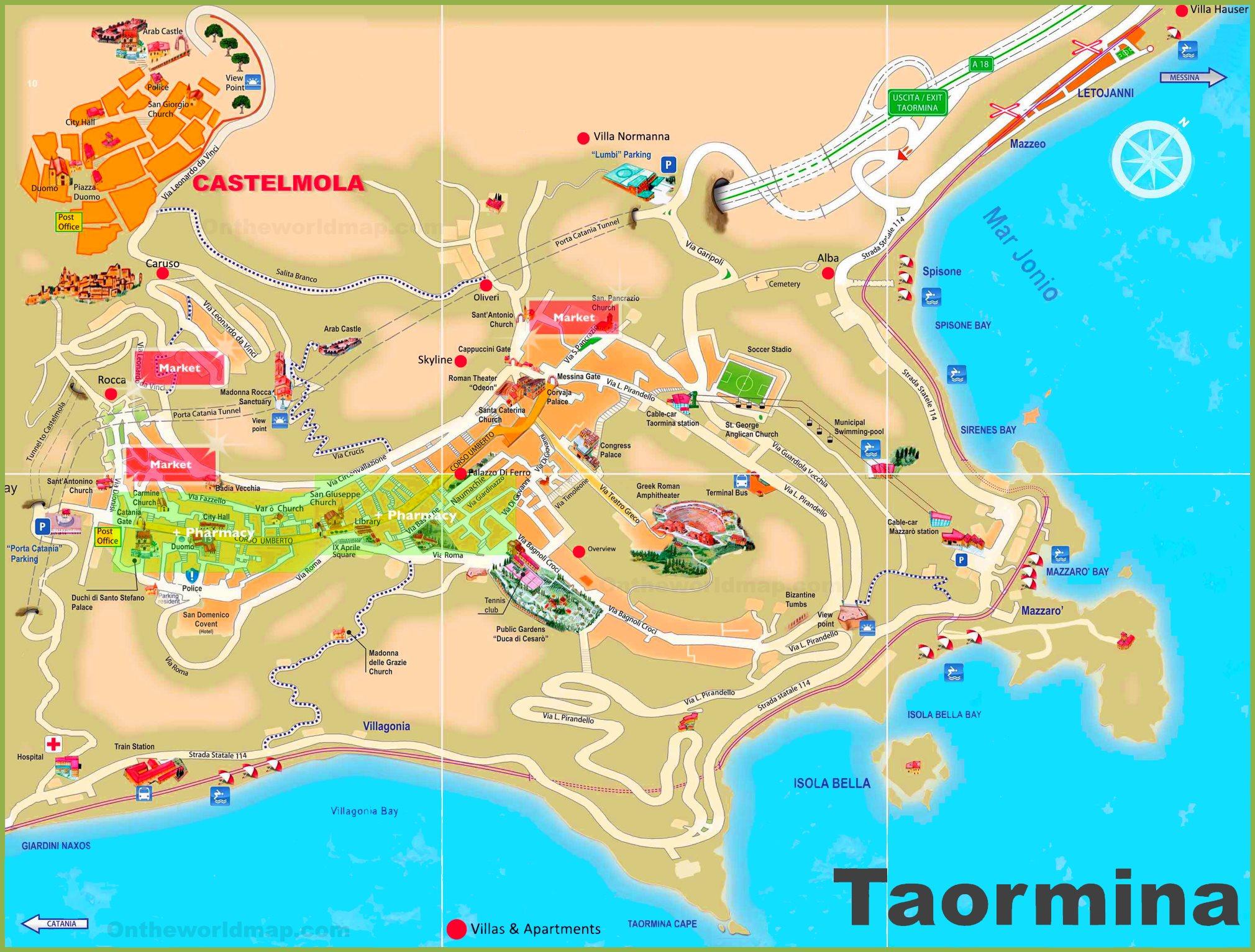 Cartina Italia Livorno