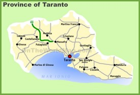 Province of Taranto map