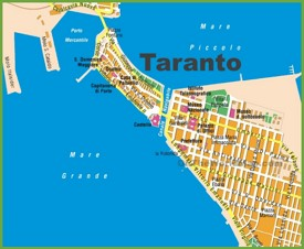 Taranto tourist map