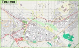 Large detailed map of Teramo